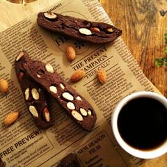 ココアクッキー/マクロビ/アーモンド アーモンドをたっぷり混ぜ込んで、ココアク…