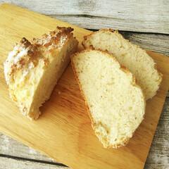 ヨーグルト ビヒダス BB536 プレーンヨーグルト 森永乳業 400g 無糖(ヨーグルト)を使ったクチコミ「重曹で膨らませる無発酵のパン、ソーダブレ…」