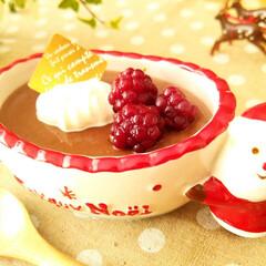 クリスマス/チョコレート/ミルクプリン こちらのチョコプリン、プリンと言っても卵…