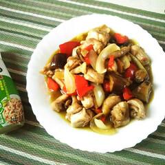 おうちごはん/グリーンカレー味/エスニック/野菜炒め グリーンカレー味の、鶏野菜炒めです。 最…
