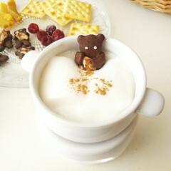 フォンデュポット/フォンデュ/陶器/マシュマロフォンデュ/抱っこくまクッキー/リミとも部/... ココアクッキーを焼いたり、干し芋を作った…(1枚目)