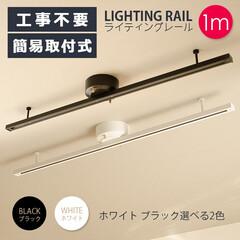 ライティングレール/ダクトレール/照明器具/天井照明/シーリングライト/おしゃれ照明器具/... ライティングレール 1m ダクトレール …