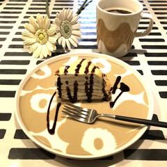 食後のデザート/ヨルカシ/クチポール/マリメッコ/ケーキ/手作りお菓子/... 手作りミルクレープ💛 フルーツがなかった…