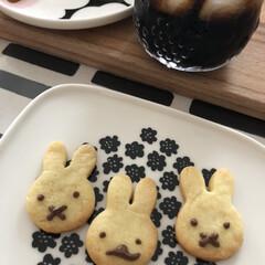 デザインレターズ/マリメッコ/クッキー作り/手作りお菓子/おやつ/おうち時間 こどもとクッキー作り🍪 水だけでお手軽に…