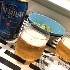 イッタラ iittala ティーマ ターコイズ 016254 ボウル 15cm | イッタラ(鉢、ボウル)を使ったクチコミ「いつもはハイボールが多いけど週末はビール…」