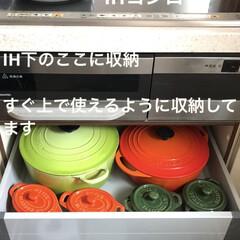 staub ストウブ セラミック ミニオーバルココット チェリー 40511-086 | STAUB(皿)を使ったクチコミ「フライパン類鍋類は使いやすいようにIH下…」(1枚目)
