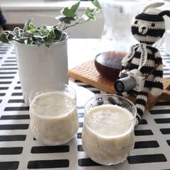 KINTO コーヒーカラフェセット SCS-04-CC 600ml 27621 | キントー(ナプキン)を使ったクチコミ「バナナジュース🍌 朝ごはんの時に🥐 子供…」