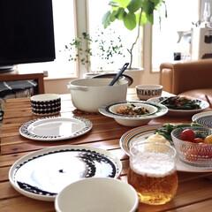 iitala origo イッタラ オリゴ プレート 26cm | イッタラ(皿)を使ったクチコミ「今日はおじいちゃんちの畑で自由にスナップ…」(2枚目)