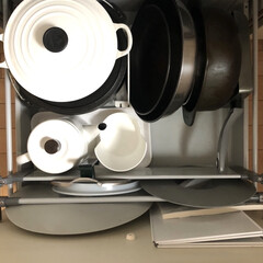 野田琺瑯 ポトル 1.5L 白 PTR-1.5K W | 野田琺瑯(コーヒーポット)を使ったクチコミ「我が家のフライパン収納 フライパンや卵焼…」