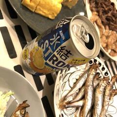 iittala イッタラ ティーマ Teema プレート 21cm ドッテドグレー | イッタラ(皿)を使ったクチコミ「おうち居酒屋🍺 ビールか柑橘系のお酒が好…」