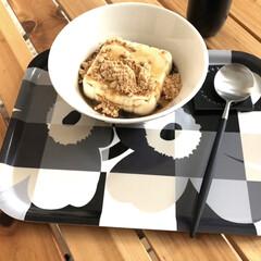 イッタラ ティーマ ボウル 15cm ホワイト | イッタラ(鉢、ボウル)を使ったクチコミ「テレビで見てやってみました 豆腐に黒蜜と…」