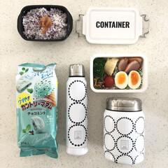 弁当箱 ネイビー ランチチャイム コンテナ ランチボックス L CNT-750(弁当箱)を使ったクチコミ「こんにちは☀️ 今日は仕事の日でした🎵 …」