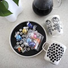 KINTO コーヒーカラフェセット SCS-04-CC 600ml 27621 | キントー(ナプキン)を使ったクチコミ「大好きなチョコ🍫 リンツのリンドール😋 …」