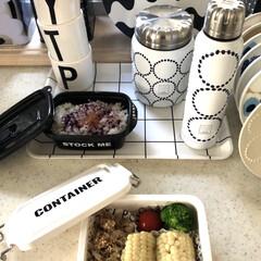 メラミンコップ メラミン 食器 コップ カップ 子供 こども キッズ DESIGN LETTERS デザインレターズ メラミンカップ | Design Letters(コップ)を使ったクチコミ「今日のお弁当🍱 北海道のホワイトとうもろ…」