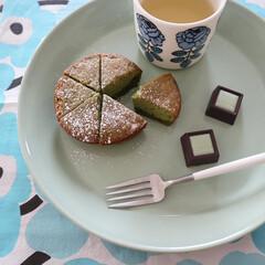 クチポール CUTIPOL デザートフォーク GOA ゴア GO.07 シルバー×ホワイト | クチポール(フォーク)を使ったクチコミ「少し前のおやつ◷ GODIVAのチョコと…」