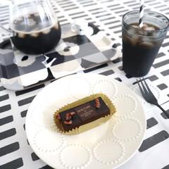 KINTO コーヒーカラフェセット SCS-04-CC 600ml 27621   キントー(ナプキン)を使ったクチコミ「今日のおやつはローソンのうちカフェ GO…」