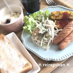 器すき/朝ごぱん/おうちカフェごはん/おうちごはん/器好き/limiaキッチン同好会/... 今日の朝ごぱん。  自粛中、唯一嬉しいの…