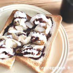 ル・クルーゼ ラウンド・プレート・LC 910140-23 ホワイト | Le Creuset(皿)を使ったクチコミ「朝ごぱん🍞  早く食べたほうが良さげな …」