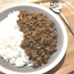 木村硝子店×イイホシユミコ dishes 180 plate | 木村硝子(お子様プレート、皿)を使ったクチコミ「晩ごはん🍚  お疲れのあまり キーマカレ…」