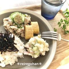 木村硝子店×イイホシユミコ dishes 180 plate | 木村硝子(お子様プレート、皿)を使ったクチコミ「寝坊した日の朝ごはん🍚  起きたら、、じ…」(1枚目)