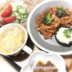 木村硝子店×イイホシユミコ dishes 180 plate | 木村硝子(お子様プレート、皿)を使ったクチコミ「昨日の晩ごはん🍚  ⭐️牛肉と野菜のトマ…」