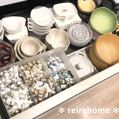 ル・クルーゼ フラワーコレクション オブロング・プレート & ミニ・フラワー・ ボール・ セット シェルピンク | Le Creuset(皿)を使ったクチコミ「毎日飲む薬💊の収納です。  置きっぱなし…」