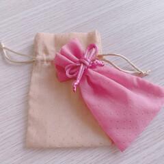 可愛い/巾着袋/巾着/ギフト/ラッピング/ダイソー/... ダイソーで見つけた‼︎ 可愛い巾着♡ 手…