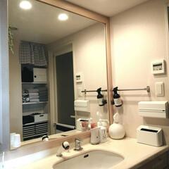 ジェームズマーティン フレッシュサニタイザー 1000ML シャワーポンプ(その他ダイエット、健康)を使ったクチコミ「.。*♡洗面所♡*。.  大きな鏡がお気…」