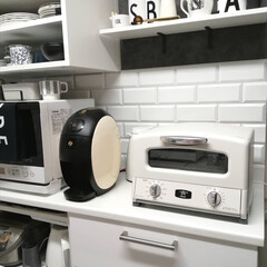 AGT-G13A オーブントースター アラジン Grill & Toaster 新グラファイト グリル&トースター 4枚焼き Aladdin ホワイト AGTG13AW | アラジン(トースター)を使ったクチコミ「.。*♡キッチンDIY♡*。.  使いづ…」(1枚目)