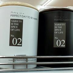 置くだけでお洒落/おしゃれ缶/モノトーン雑貨/缶/100均/ダイソー/... マット感が可愛い缶は ダイソーで見かけた…