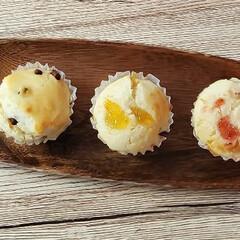 卵白消費/カップケーキ/手作りお菓子/ホームメイド 冷凍卵白が増えすぎたので、カップケーキ。…(1枚目)
