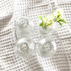 カルディ/マルティネリ/アップルジュース/空き瓶/空き瓶リメイク/リメイク/... マルティネリアップルジュースの空き瓶。 …