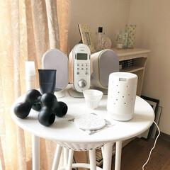 ロフト/ロフトで購入/ツボ押し/ツボピロー/モノトーン テーブルの左端の真っ黒なアイテム、お世話…