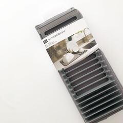 ニトリ/ニトリ購入品/ニトリでコホーム/吸水マット/食器洗い/キッチン雑貨/... ニトリのこれ、とても便利です。 ラック付…