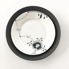 ロイヤルコペンハーゲン Royal Copenhagen ブラックフルーテッド メガ パスタプレート プレート 皿 24cm 2546606 【並行(皿)を使ったクチコミ「ロイヤルコペンハーゲンのブラックフルーテ…」