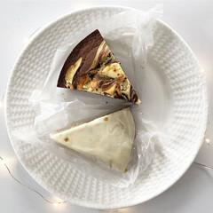 ディーンアンドデルーカ/スイーツ/朝食/プチカフェ/白いお皿/キッチン雑貨 ディーンアンドデルーカのケーキです♡ 上…