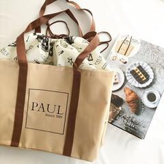 リメイク/お買い物バッグ/レジカゴバッグ/PAUL/マイバッグ/ダイソー/... 最近活躍してくれている、PAULのレジカ…