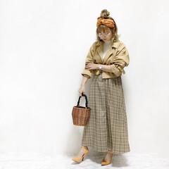 ファッション/おすすめアイテム 春のレトロコーデ💓  トレンドのオレンジ…(3枚目)