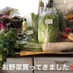 新鮮野菜/昼ご飯 旦那さんがお休みなのでくるま🚗で連れて行…