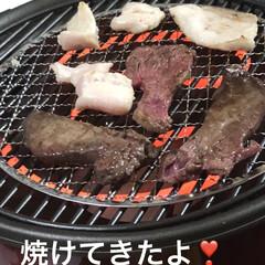 晩ご飯/黒猫/にこ/くろ/猫/めん/... ずーっと旦那さんが食べたがってた焼き肉。…(2枚目)