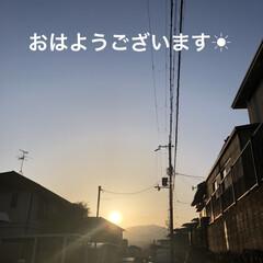 朝ご飯/空/くろ/黒猫/にこ/めん/... おはようございます☀朝、明るくなるの早く…(1枚目)
