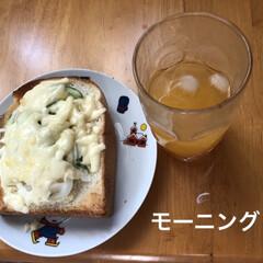モーニングセット/おうちごはん/簡単 朝からやはふらふら😵やたらお腹すくし飲み…