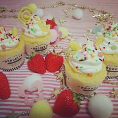 おうちカフェ/カフェタイム/ふわふわカップケーキ おうちでカップケーキ屋さんごっこ☆ マヨ…