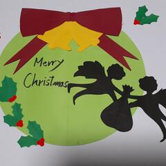 リミとも部1期生/リミとも部/クリスマス飾り/クリスマスリース/クリスマス/施設の飾り/... おはよーございます🥰 クリスマスの色紙か…