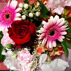 うちの旦那さん/退職/花束贈呈 主人が今月末で退職なので職場で花束をもら…