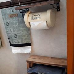 トイレットペーパーホルダー/介護用品/100均 トイレの介護グッズです。ペーパーホルダー…