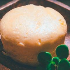 おうちカフェ/チーズレシピ/チーズケーキ/ケーキ作り/おうちスイーツ/おうちごはん/... 低温調理で簡単「チーズスフレケーキ🧀」 …