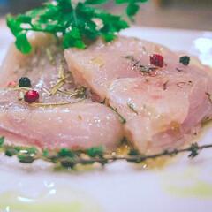 主菜/魚/刺身/マグロレシピ/マグロ/まぐろ/... もちっとおいしく、お酒のお供に♪ 見た目…(2枚目)