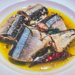 おうちごはん/ホームパーティー/おしゃれごはん/アヒージョ/さんまレシピ/秋刀魚/... 低温調理で作る「骨まで食べられる🐟さんま…