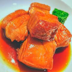 おうちごはん/豚の角煮/低温調理/真空低温調理/圧力鍋/ボニーク/... 低温調理で作る「極上おいしい、豚ばらの角…